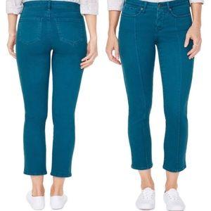 NEW NYDJ   Sheri Pintuck Slim Ankle Jeans Bluebell